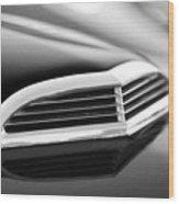 1957 Thunderbird Scoop Black And White Wood Print