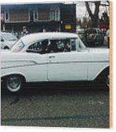 1957 White Chevy Wood Print