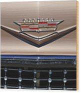 1958 Cadillac Eldorado Barritz Emblem Wood Print