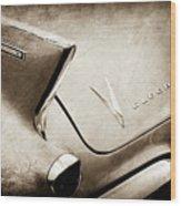1958 Cadillac Eldorado Biarritz Taillight Emblems -0255s Wood Print