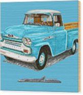 Apache Pick Up Truck Wood Print