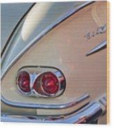 1958 Chevrolet Belair Taillight Wood Print