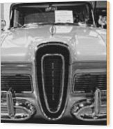 1958 Edsel Pacer Black And White Wood Print