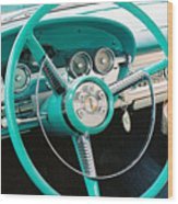 1958 Edsel Pacer Dash Wood Print