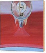 1958 Edsel Ranger Hood Ornament 2 Wood Print