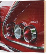 1958 Impala Tail Lights Wood Print