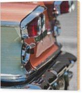 1958 Pontiac Bonneville Taillights Wood Print