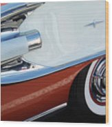 1958 Pontiac Bonneville Wheel Wood Print