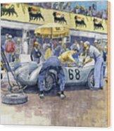 1958 Targa Florio Porsche 718 Rsk Behra Scarlatti 2 Place Wood Print