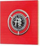 1959 Alfa-romeo Giulietta Sprint Emblem Wood Print by Jill Reger