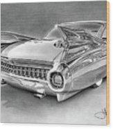 1959 Cadillac Drawing Wood Print