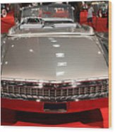 1959 Cadillac Eldorado Convertible . Rear View Wood Print by Wingsdomain Art and Photography