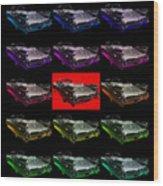 1959 Cadillac Eldorado Convertible . Wing Angle Artwork 2 Square Wood Print