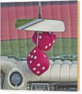 1959 Cadillac Eldorado Fuzzy Dice Wood Print