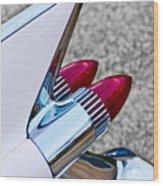 1959 Cadillac Eldorado Tail Fin Wood Print