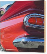 1959 Chevrolet Biscayne Taillight Wood Print
