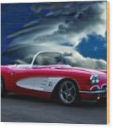 1959 Chevrolet Corvette Convertible II Wood Print