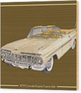 1959 Chevrolet Impala Convertible Wood Print