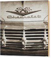 1959 Chevrolet Impala Grille Emblem -1014s Wood Print