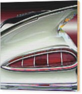 1959 Chevrolet Impala Tail Wood Print