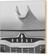 1959 Dodge Coronet Emblem - Hood Ornament -0903bw Wood Print