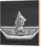 1959 Dodge Custom Royal Super D 500 Emblem -0230bw Wood Print