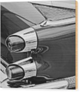 1959 Dodge Custom Royal Super D 500 Taillight -0233bw Wood Print