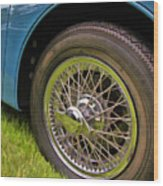 1959 Jaguar X K 150s Wire Wheel Wood Print