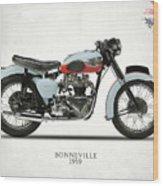 1959 T120 Bonneville Wood Print