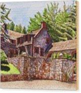 #196 Bourn Cottage Wood Print