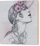 196 Wood Print by Diego Fernandez