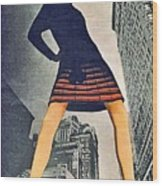 1960 70 Fashion Shot Of Female Model In Usa Wood Print