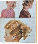 1960 70 Stylish Female Hair Styles Golden Blond Wood Print