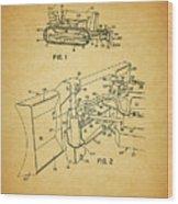 1960 Bulldozer Patent Wood Print