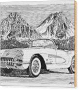 1960 Corvette Wood Print