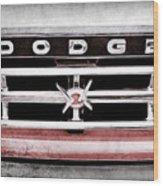 1960 Dodge Truck Grille Emblem -0275ac Wood Print