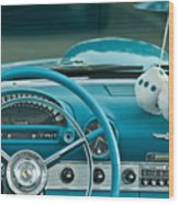 1960 Ford Thunderbird Dash Wood Print