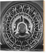 1960 Ford Thunderbird Spare Tire 2 Wood Print