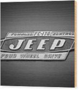 1960 Forward Control Jeep Fc-170 Emblem -1669bw Wood Print