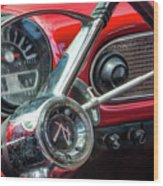1960 Rambler Dashboard Wood Print