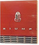 1960 Triumph Tr3 Emblem Wood Print