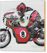 1960s Ducati Desmo Wood Print