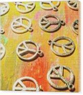 1960s Peace Movement Wood Print