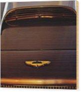 1961 Aston Martin Db4 Coupe Emblem Wood Print