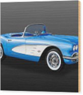 1961 C1 Chevrolet Corvette -  61chvetcv900 Wood Print