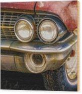 1961 Cadillac Headlight Wood Print