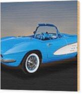 1961 Chevrolet C1 Corvette  -  61chvetcv350 Wood Print