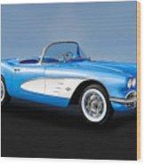 1961 Chevrolet C1 Corvette   -   61vettecv800 Wood Print