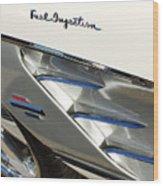 1961 Chevrolet Corvette Abstract Wood Print