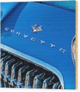 1961 Chevrolet Corvette Zob Grille Wood Print
